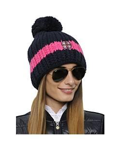 SPOOKS Hat Stripe Navy/Pink